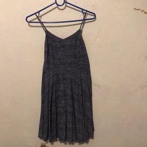 Darker blue patterned sun dress